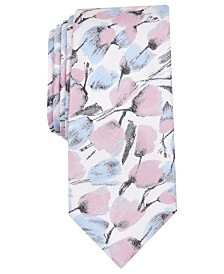 Bar III Men's Paint Brush Floral Skinny Tie, Created for Macy's