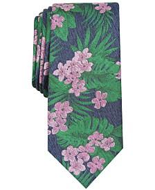 Bar III Men's Plumeria Floral Skinny Tie, Created for Macy's