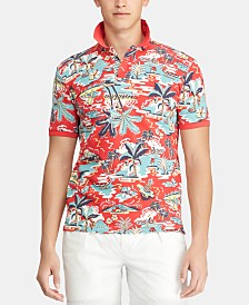 Polo Ralph Lauren Men's Classic-Fit Mesh Hawaiian Polo Shirt