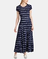 d4ebb06aefb87 Lauren Ralph Lauren Striped T-Shirt Dress
