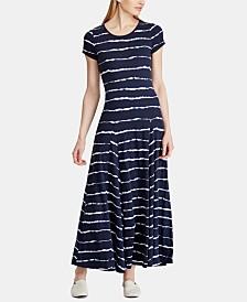 Lauren Ralph Lauren Striped T-Shirt Dress