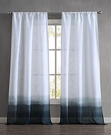"Dip Dyed Olivia 76"" x 96"" Rod Pocket Window Curtain Pairs"