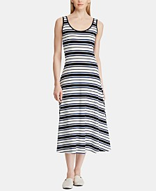 Lauren Ralph Lauren Fit & Flare Striped Dress