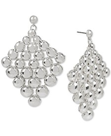 BCBGeneration Silver-Tone Dome Bead Kite Drop Earrings