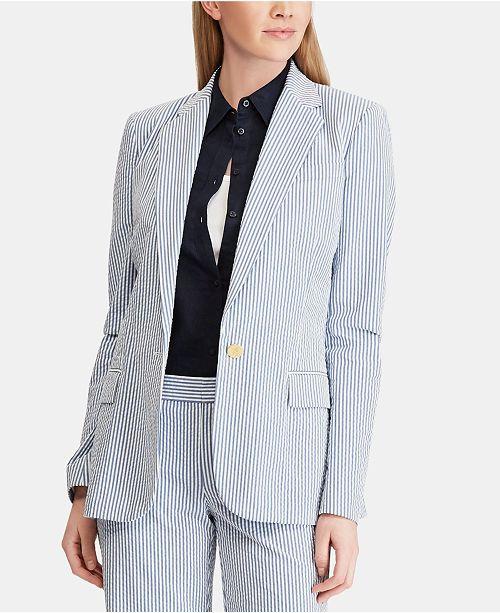 Lauren Ralph Lauren Seersucker Blazer Reviews Jackets