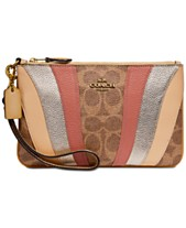 c2989c5b1 COACH Signature Wave Patchwork Wristlet