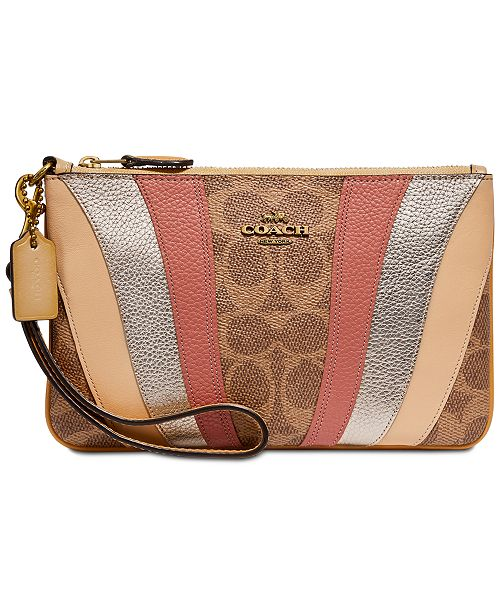 COACH Signature Wave Patchwork Wristlet