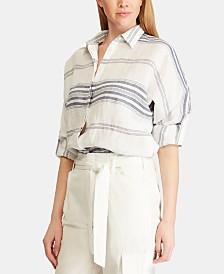 Lauren Ralph Lauren Striped Linen Shirt