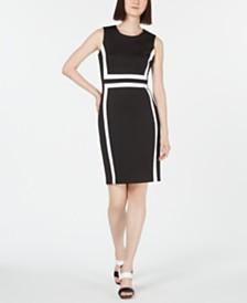 Calvin Klein Petite Colorblocked Scuba Dress