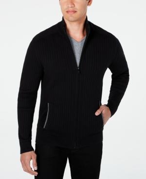 Men's Ribbed Full-Zip Sweater