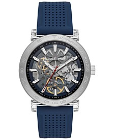Men's Automatic Greer Navy Silicone Strap Watch 43mm