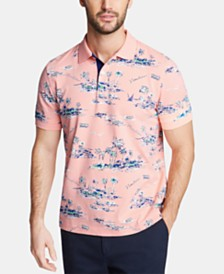 Nautica Men's Classic Fit Graphic Polo, Created for Macy's