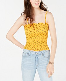 Juniors' Ruffled Smocked Top