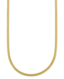 "Bismark Chain 20"" Necklace in 18k Gold-Plate Over Sterling Silver, Created for Macy's"
