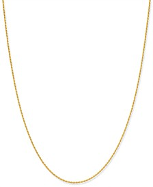 "Thin Rope Chain 20"" Necklace in 18k Gold-Plate Over Sterling Silver, Created for Macy's"