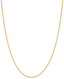 """Giani Bernini Thin Rope Chain 20"""" Necklace in 18k Gold-Plate Over Sterling Silver, Created for Macy's"""