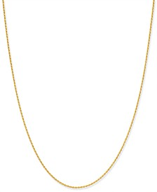 "Giani Bernini Thin Rope Chain 20"" Necklace in 18k Gold-Plate Over Sterling Silver, Created for Macy's"