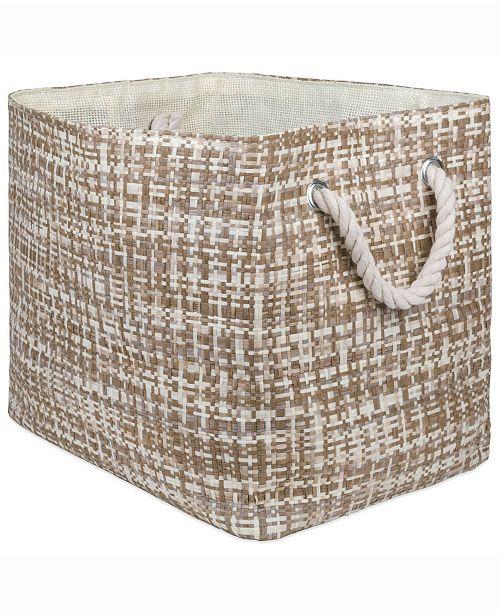 Design Imports Paper Bin Tweed, Rectangle