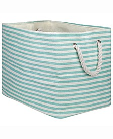 Design Import Paper Bin Pinstripe, Rectangle