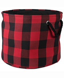 Storage Bin Buffalo Check, Round