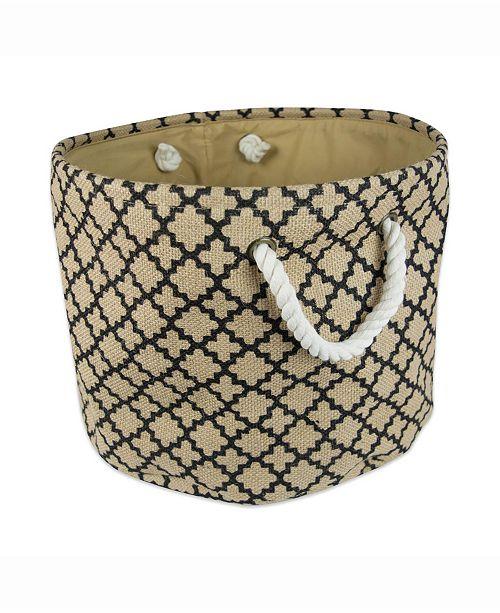 Design Imports Burlap Bin Lattice, Round