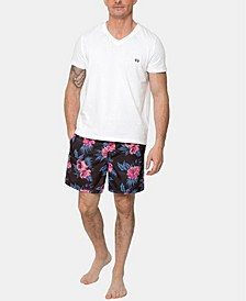 Bold Hibiscus Fuchsia Board Shorts