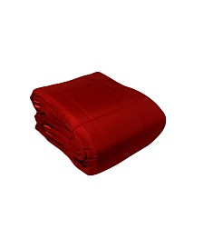 Solid Colored Microfiber Down Alternative Twin Blanket