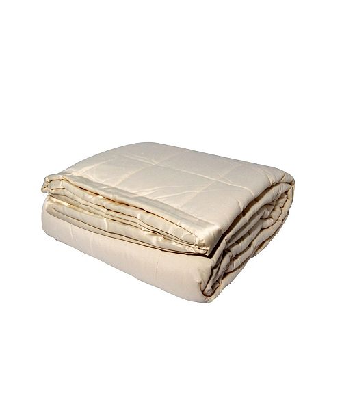 LCM Home Solid Colored Microfiber Down Alternative Twin Blanket