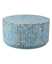 East At Main's Cummings Coconut Shell Inlay Coffee Table