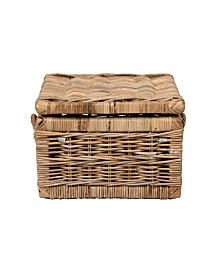 "East At Main's Viola Rattan Storage Trunk 31"" x 31"" x 22"""