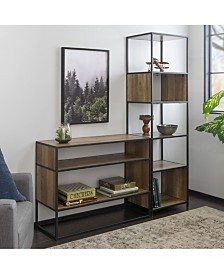 2-Piece Industrial Bookcase Set