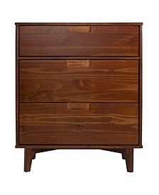 3 Drawer Mid Century Modern Wood Dresser