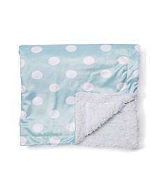 3 Stories Trading Dotted Mink Sherpa Baby Blanket