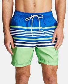 "Nautica Men's Variegated-Stripe 8"" Swim Trunks, Created for Macy's"