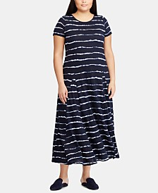 Lauren Ralph Lauren Plus Size Striped T-Shirt Dress