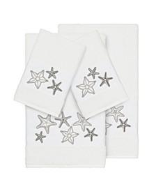 Turkish Cotton Lydia 4-Pc. Embellished Towel Set