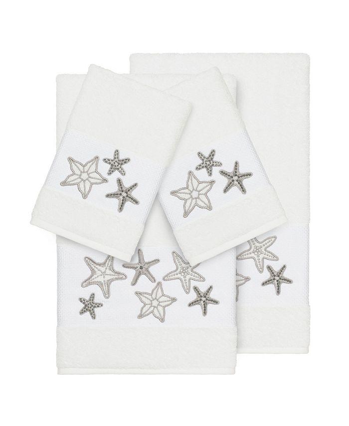 Linum Home - Turkish Cotton Lydia 4-Pc. Embellished Towel Set