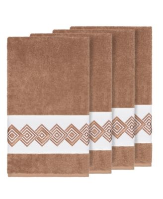 Turkish Cotton Noah 4-Pc. Embellished Bath Towel Set