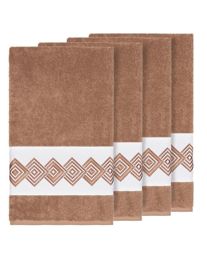 Linum Home - Turkish Cotton Noah 4-Pc. Embellished Bath Towel Set