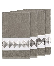 Turkish Cotton Noah 4-Pc. Embellished Bath Towel Set