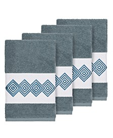 Turkish Cotton Noah 4-Pc. Embellished Hand Towel Set