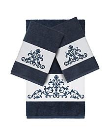 Turkish Cotton Scarlet 3-Pc. Embellished Towel Set