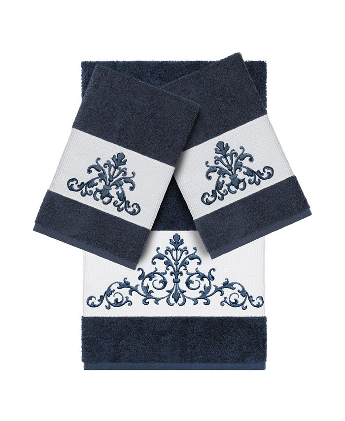 Linum Home - Turkish Cotton Scarlet 3-Pc. Embellished Towel Set