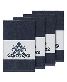 Turkish Cotton Scarlet 4-Pc. Embellished Hand Towel Set