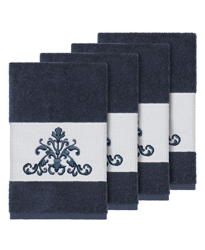 Linum Home - Turkish Cotton Scarlet 4-Pc. Embellished Hand Towel Set