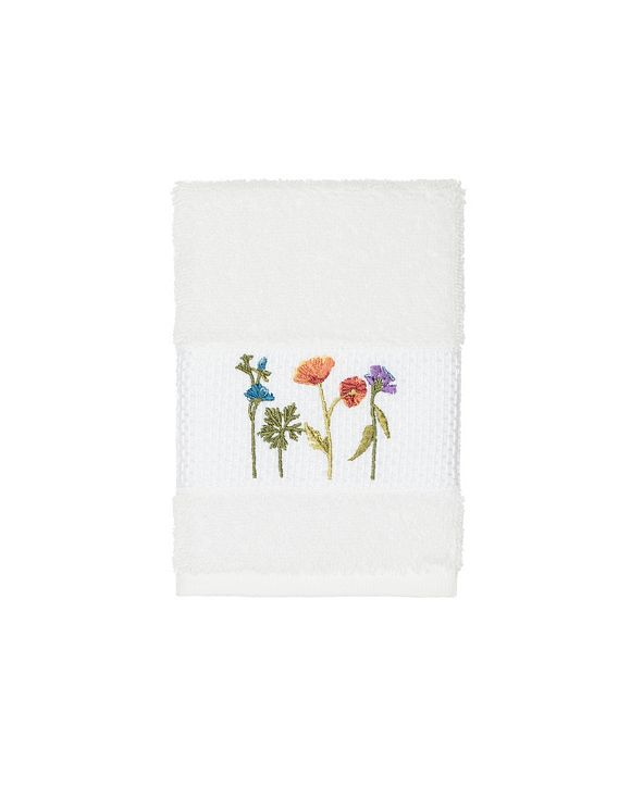 Linum Home Turkish Cotton Serenity Embellished Washcloth