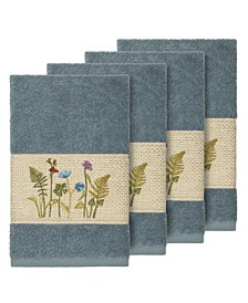 Turkish Cotton Serenity 4-Pc. Embellished Hand Towel Set