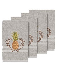 Turkish Cotton Welcome 4-Pc. Embellished Hand Towel Set