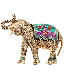 Anne Klein Gold-Tone Pavé Elephant Pin, Created for Macy's