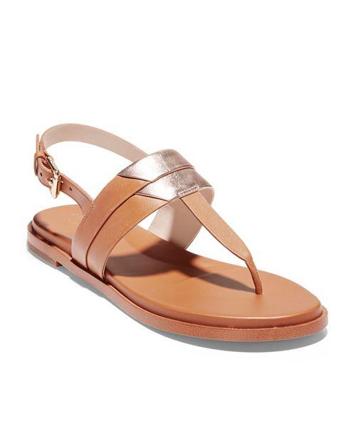 56bc8cf79 Cole Haan Ainslee Grand T-Strap Sandals   Reviews - Sandals   Flip ...